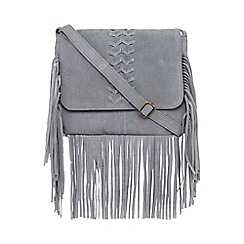 Nine by Savannah Miller - Light blue fringed saddle bag