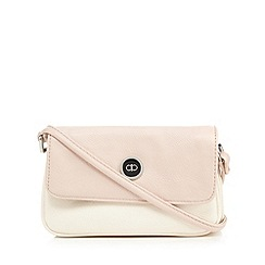 The Collection - Pale pink colour block cross body bag