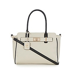 The Collection - Cream metal detail tote bag