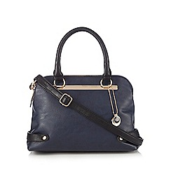 The Collection - Navy colour block cross body bag