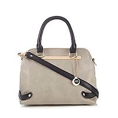 The Collection - Grey colour block cross body bag