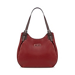 The Collection - Red buckled shoulder bag