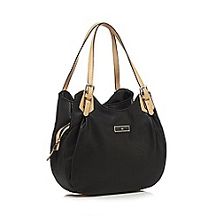 The Collection - Black three compartment shoulder bag