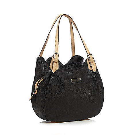 The Collection Black three compartment shoulder bag ...