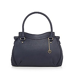The Collection - Navy triple section shoulder bag