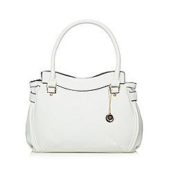The Collection - White pebble grain tote bag