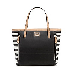 The Collection - Black striped zip detail grab bag