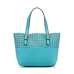 The Collection - Green small cut-out shopper bag