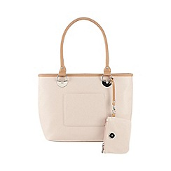 The Collection - Pink colour block purse detail tote bag