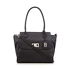 The Collection - Black winged tote bag