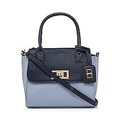 The Collection - Blue colour block winged tote bag