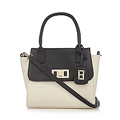 The Collection - Off white colour block winged tote bag
