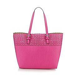 The Collection - Pink cut-out shopper bag