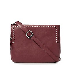 The Collection - Wine red leather stitch organiser bag