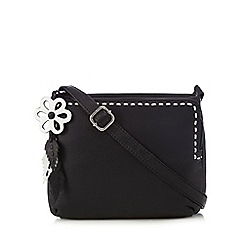 The Collection - Black leather stitch organiser bag
