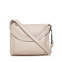 The Collection - Light pink triple stitch detail cross body bag