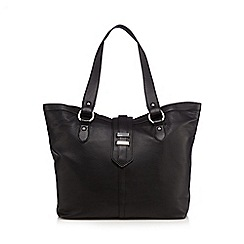 The Collection - Black leather tote bag