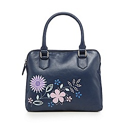 The Collection - Navy floral applique grab bag