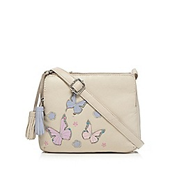 The Collection - Cream butterfly shoulder bag