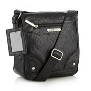 Black Small Grained Cross Body Bag