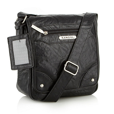 Kangol - Black small grained cross body bag