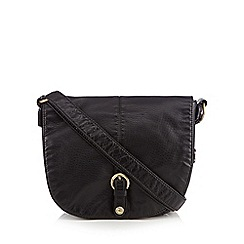 Mantaray - Black washed saddle bag