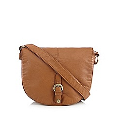 Mantaray - Tan washed saddle bag