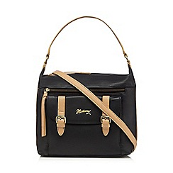 Mantaray - Black leather buckle shoulder bag