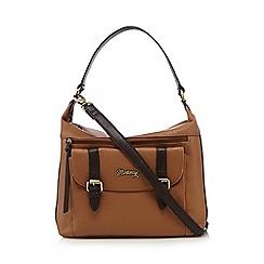 Mantaray - Tan buckle shoulder bag