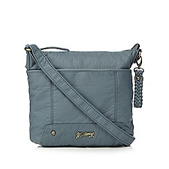 Mantaray - Light blue plait detailed cross body bag