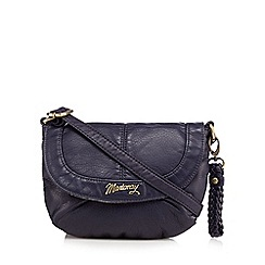 Mantaray - Navy plaited cross body bag