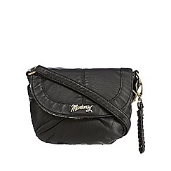 Mantaray - Black plaited cross body bag