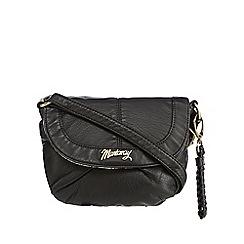 Mantaray - Black plaited cross body bag