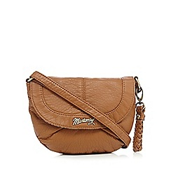 Mantaray - Tan plait detail cross body bag