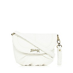 Mantaray - White grained cross body bag