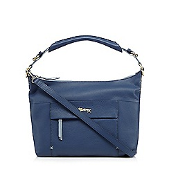 Mantaray - Navy leather shoulder bag