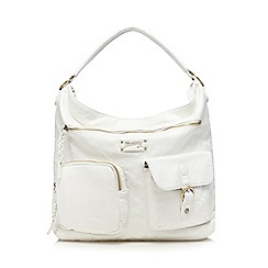 Mantaray - White plaited hobo bag