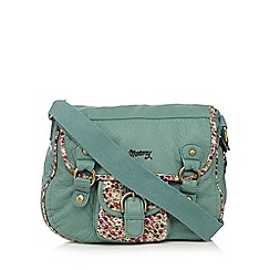 Mantaray - Light green washed buckle detail cross body bag