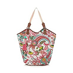 Mantaray - Light pink embellished shopper bag