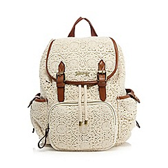 Mantaray - Cream floral lace backpack