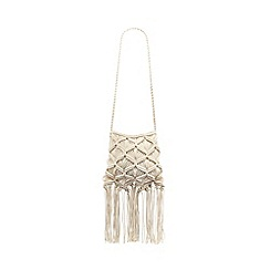 Mantaray - Cream crocheted cross body bag