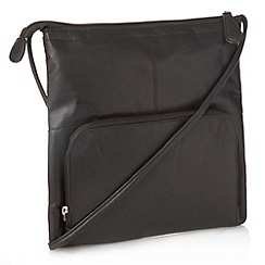 The Collection - Brown leather across body bag
