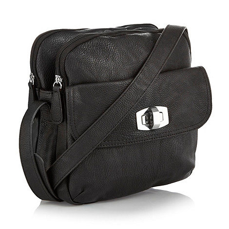 The Collection - Black twist lock across body bag