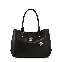 Bailey & Quinn - Black leather three compartment shoulder bag