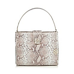 Bailey & Quinn - Grey snakeskin-effect print shoulder bag