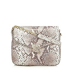 Bailey & Quinn - Grey snakeskin-effect print cross body bag