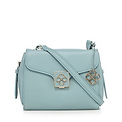 Bailey & Quinn - Light green leather logo detail cross body bag