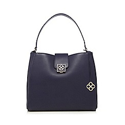 Bailey & Quinn - Navy logo tab shoulder bag