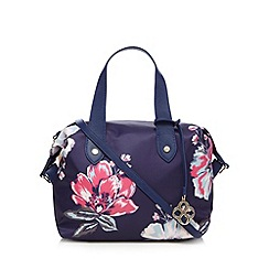 Bailey & Quinn - Purple floral print bowler bag