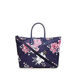 Bailey & Quinn - Purple floral print weekend bag